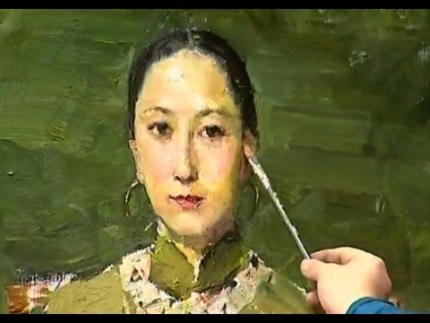 Oil Painting a Portrait of Girl Real-Time