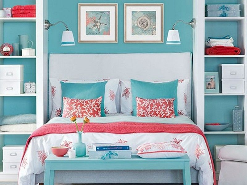 Delicieux Navy And Coral Bedroom | ... To Navy Blue And Coral Bedroom Ideas Navy