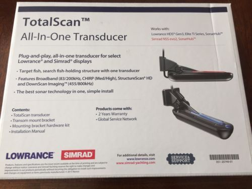 Fishfinders 29723: Lowrance Simrad Totalscan Transducer [000