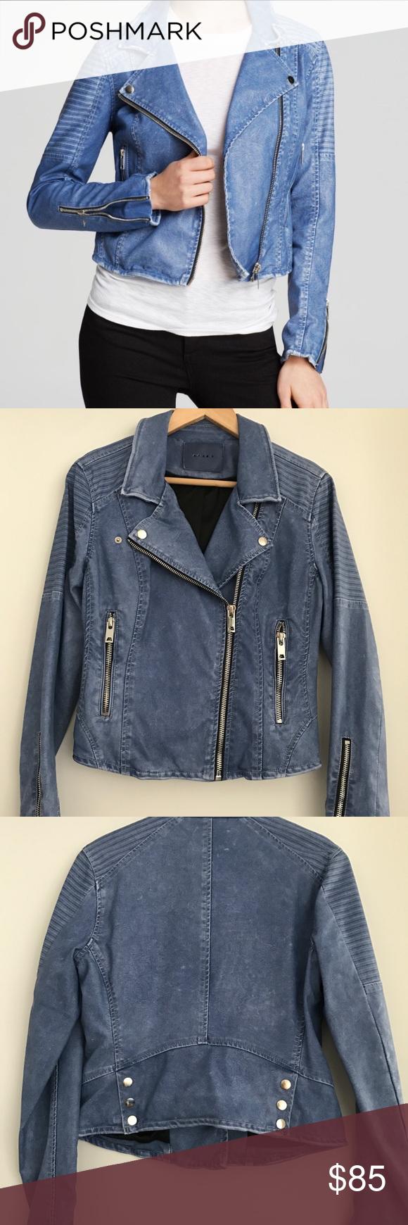 BLANKNYC Blue faux leather moto jacket Jackets, Faux