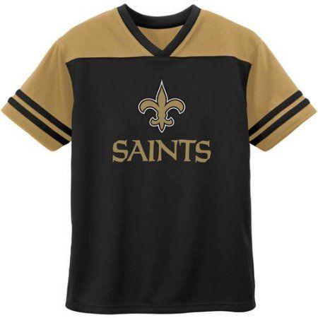 NFL New Orleans Toddler Short Sleeve Fashion Top, Toddler Boy's, Size: 12M, Black