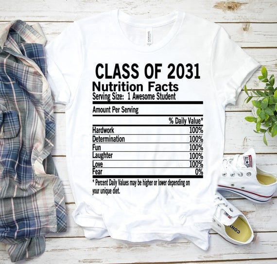 Class of 2031 Shirt Oversized Nutrition Fact - first day of school - 1st day of school outfit - back to school kids gift- 1st grade clothing #firstdayofschooloutfits