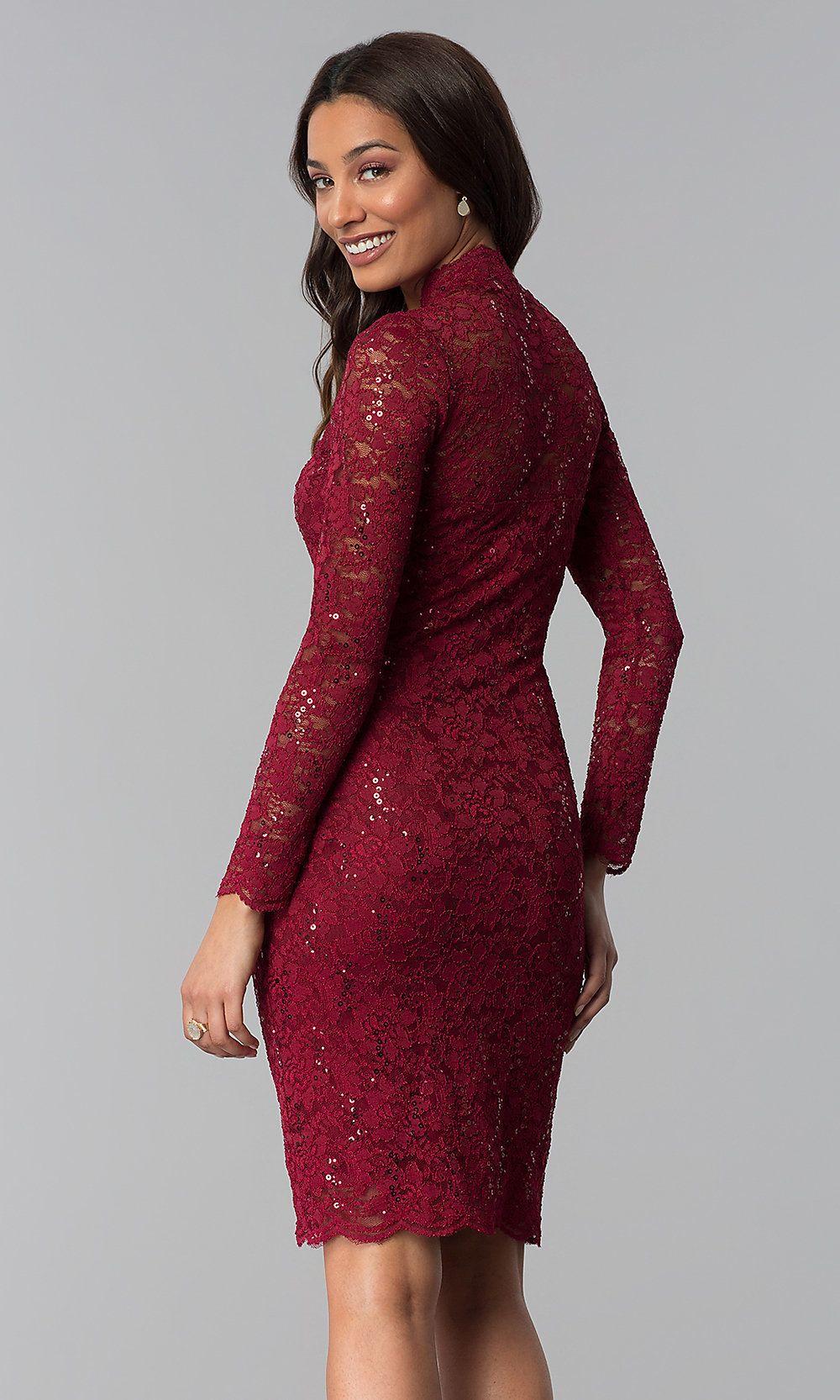 Long Sleeve Knee Length Lace Wedding Guest Dress Lace Wedding Guest Dress Wedding Guest Dress Guest Dresses [ 1666 x 1000 Pixel ]