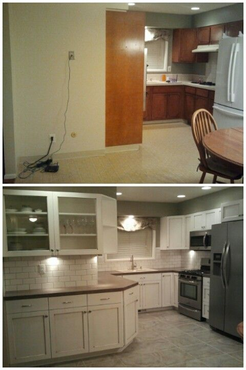 Before and after kitchen remodel | mobile home makeover | Pinterest ...