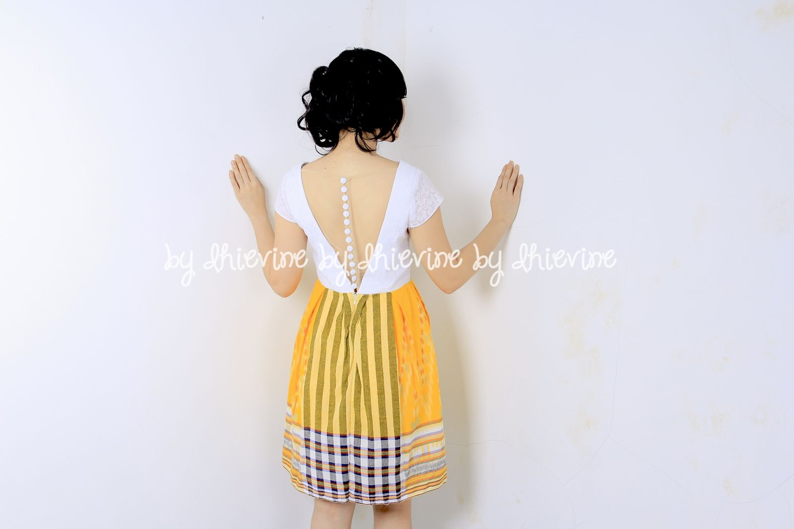 Awahita Ikat Yellow Dress | DhieVine | Redefine You