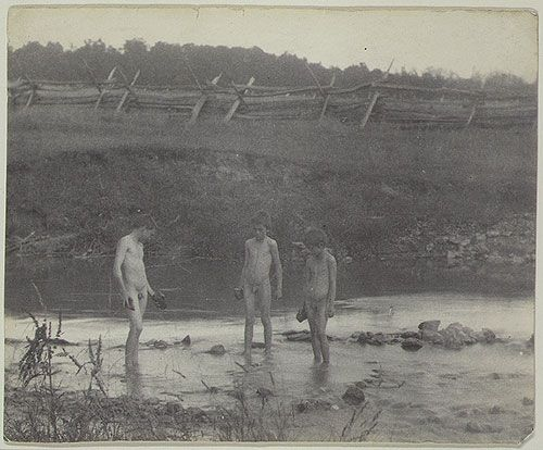 Thomas Eakins: [Three Boys Wading in a Creek] (44.75.7 ...