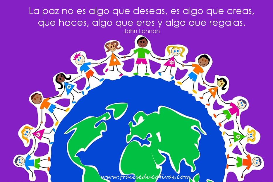 Frase De Educación Sobre La Paz Frases Educativas Frases