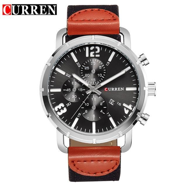 Top Brand CURREN Men's Quartz Watches men fashion Wristwatch Casual Sports canvas Clock male Army Analog Relojes Hombre 2017