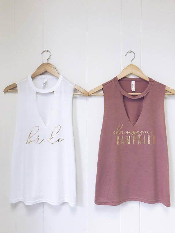 2bb716c6 << super fun and sassy bachelorette tank >> -----this listing is for ONE  tank. Please leave title desired ( Bride or Champagne ...