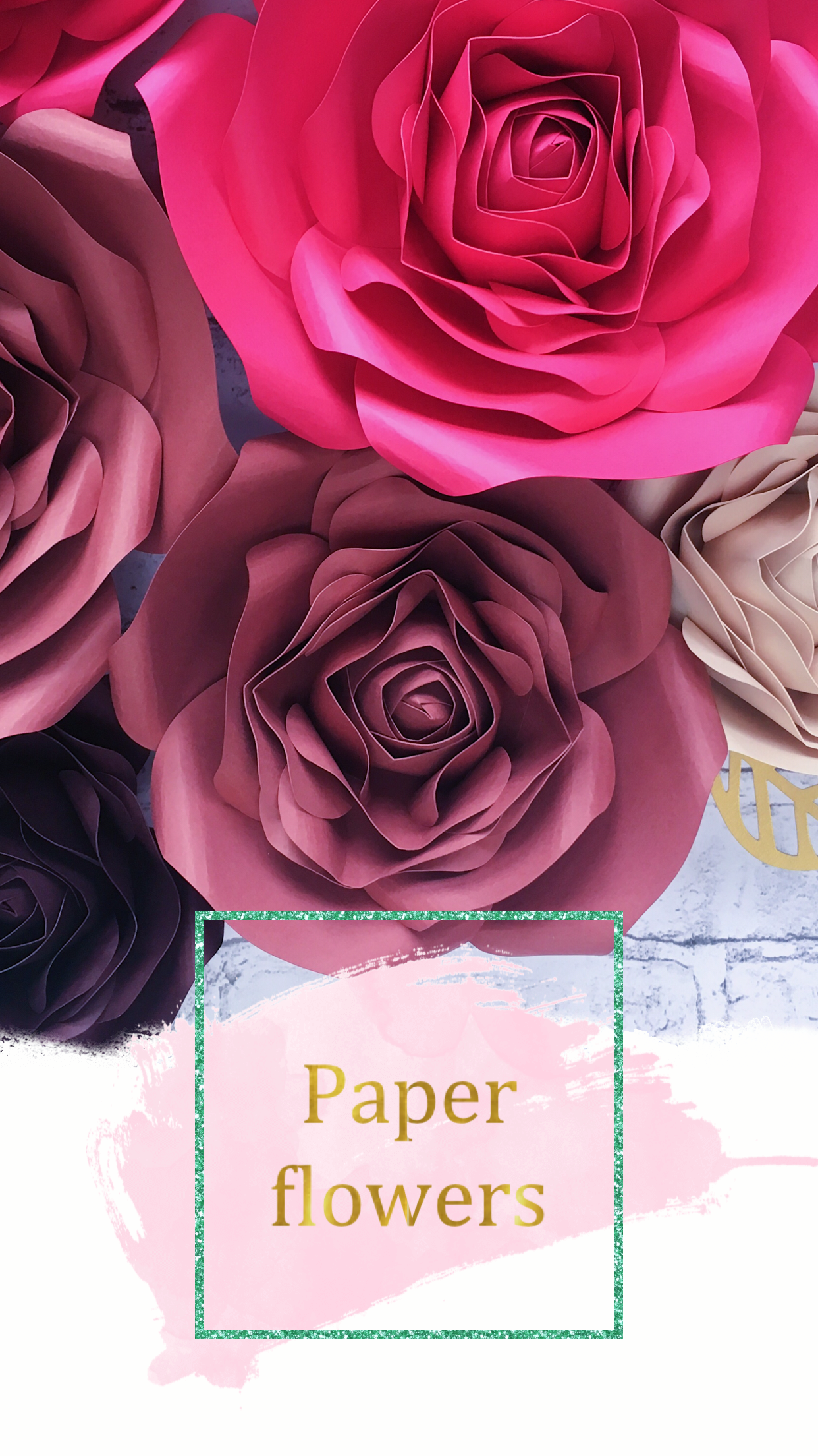 Paper Flowers Wall Decor Fuchsia And Beige Fall Wall Decor