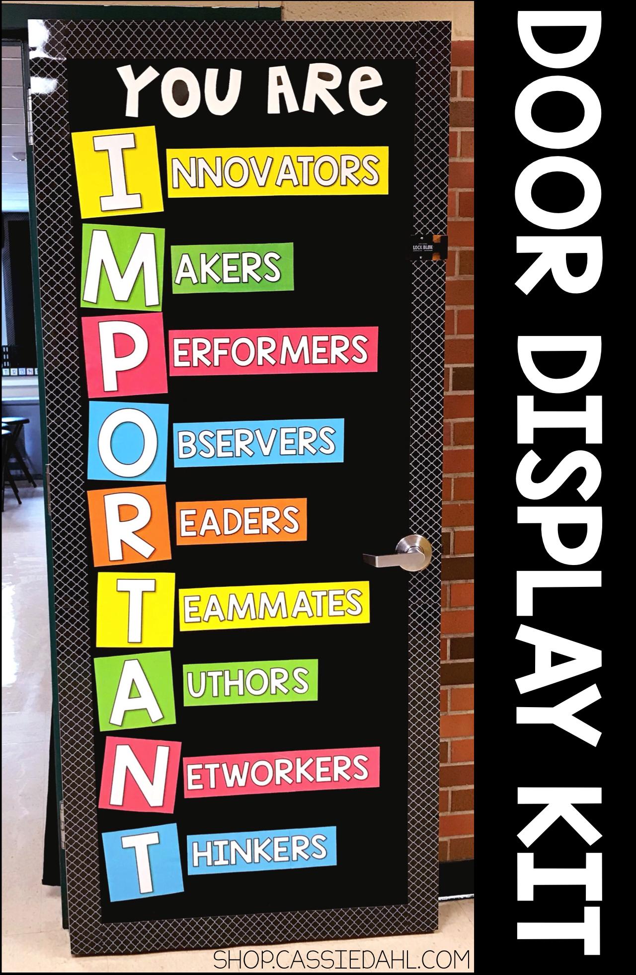 You Are Important Door Kit Classroom Door School Displays