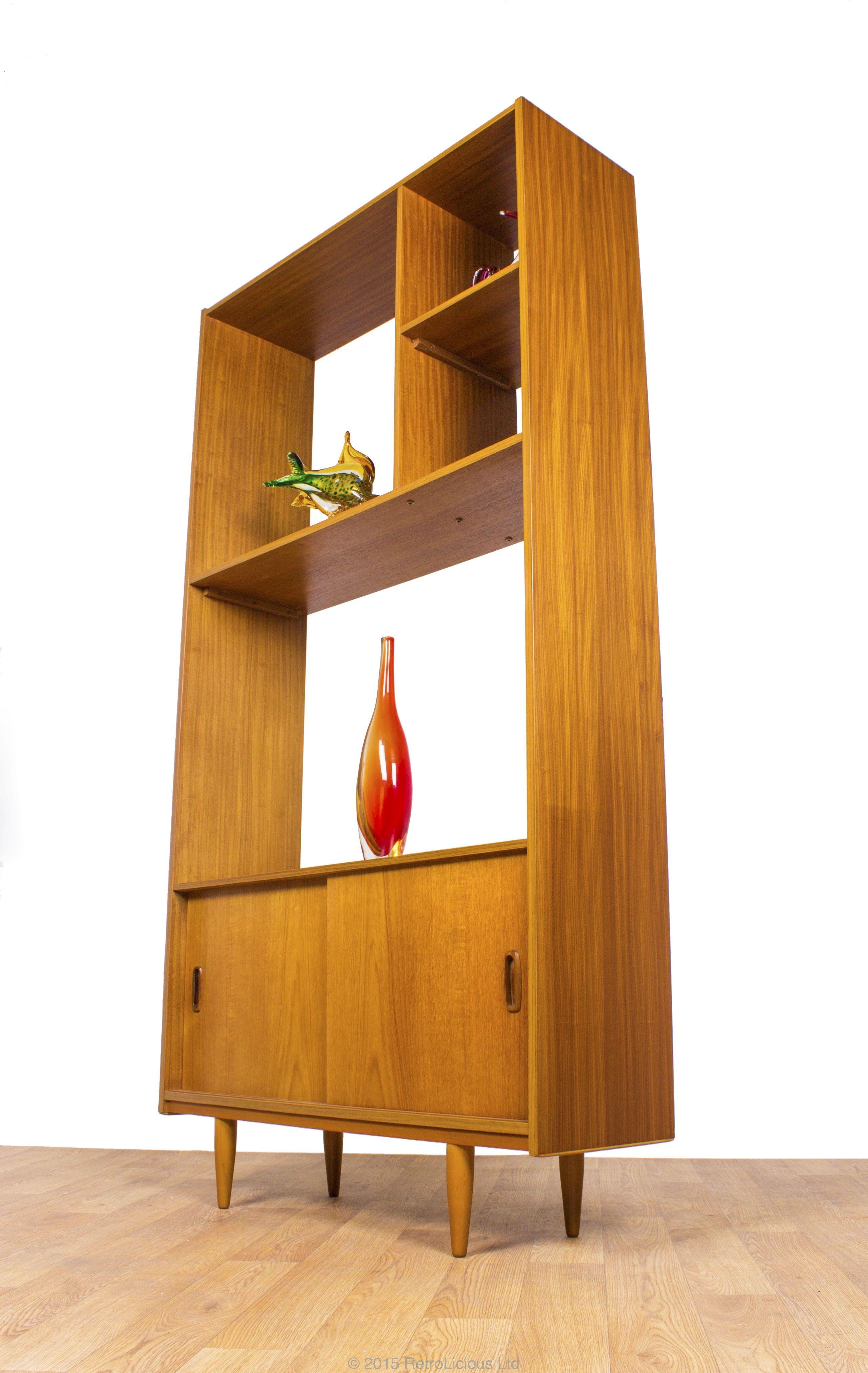 Stunning Danish Teak Room Divider Storage Unit Living Pinterest