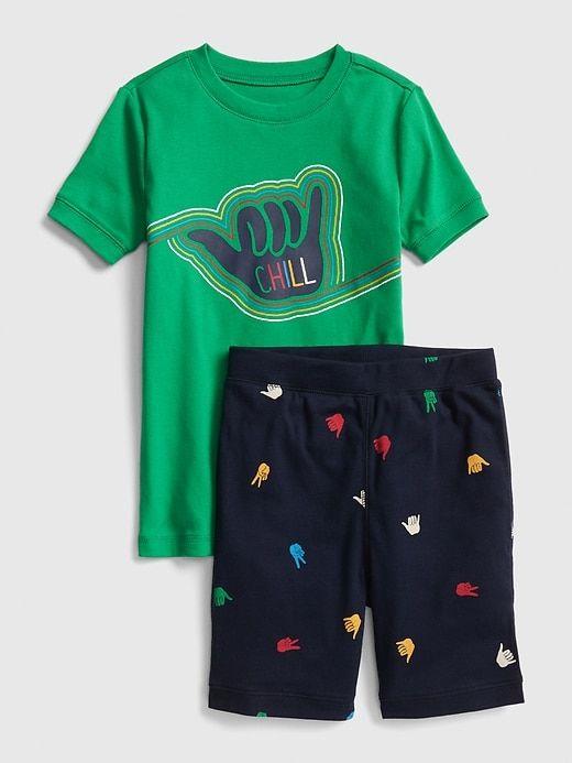 7bd8be4efae7 Gap Boys  Graphic Short Pj Set Gallant Green