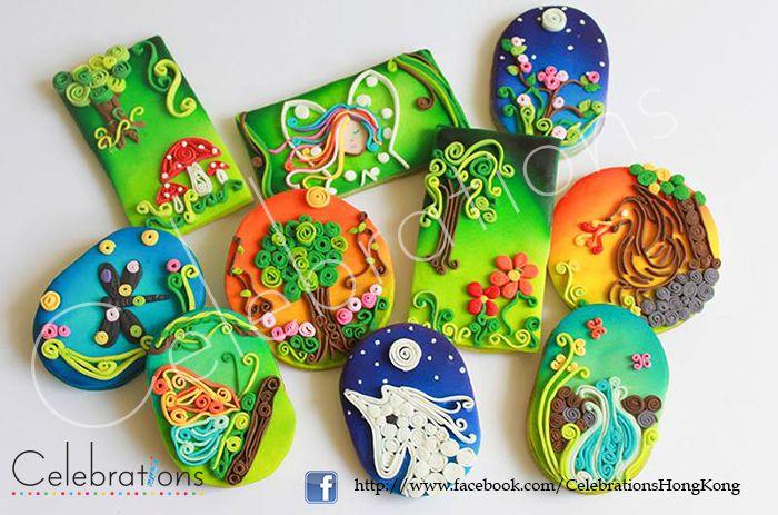 #cookies #quillingcookies #quilling #EnchantedForestCookies #cookies #unicorncookies #waterfallcookies #dragoncookies #butterflycookies #Quilling #AirbrushCookies