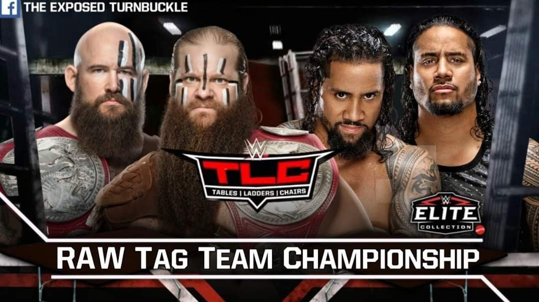 The Viking Raiders vs. The Usos for The Raw Tag Team