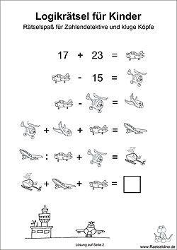 Logik Rätsel für Kinder | matematica-1-2 | Pinterest | Math ...