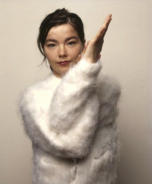 bjork and the cotton ball sweater