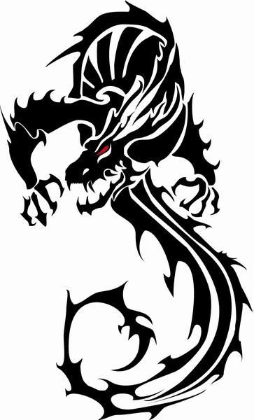 Black Vector Dragon Vecteezy Download Free Vector Art Stock Clipart Best Clipart Best Tribal Dragon Tattoos Dragon Images Dragon Silhouette