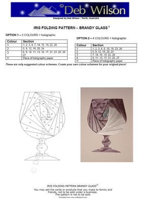 Brandy Glass Iris Folding pattern on Craftsuprint designed by Deb Wilson - Use this Brandy Glass pattern to create a variety of cards - birthday, anniversary, good luck etc.... - Now available for download!