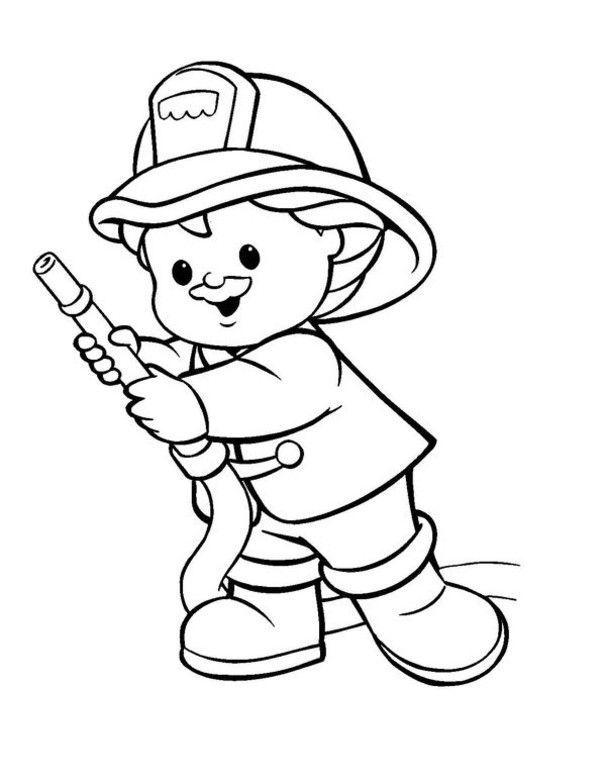 Bildergebnis für feuerwehr ausmalbilder kindergarten | Alarm, es ...