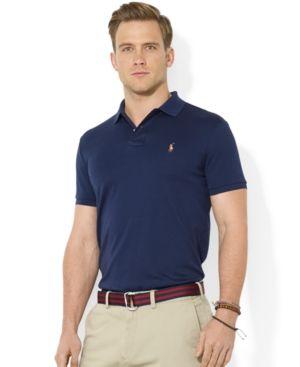 02c0ecde Polo Ralph Lauren Men's Pima Cotton Soft-Touch Polo - Blue XXL ...