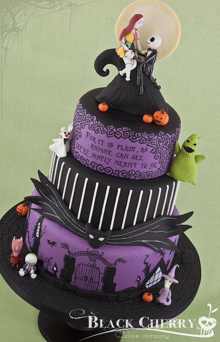 nightmare before christmas wedding cake design | Cakes | Pinterest ...
