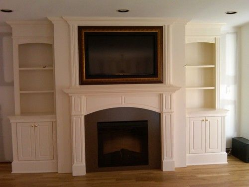 Fireplace Feature Wall I Really Like This Layout But Without Whatever That Is Above The Fireplace Fireplace Built Ins Home Fireplace Fireplace Feature Wall