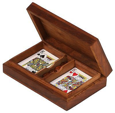Cards Wooden Deck Box Playing Card Box Wooden Box Diy Deck Boxes