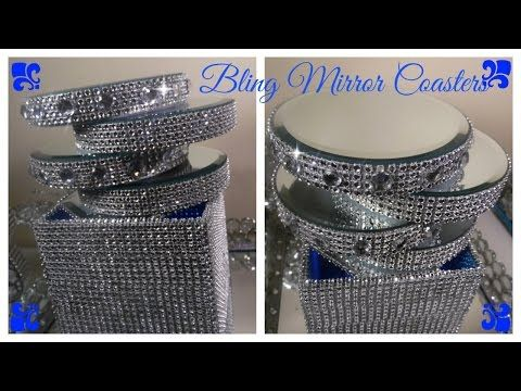 9d59569e7e9 DIY - BEAUTIFUL MIRROR BOXES USING DOLLAR TREE MIRRORS  amp  PLATES (BLING)  -