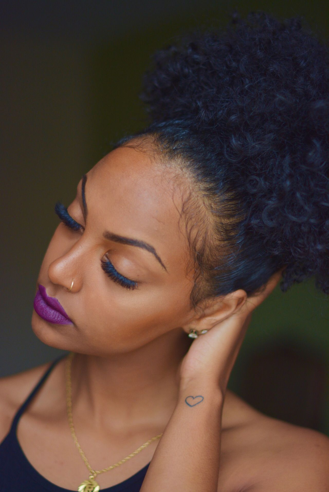 Blue Black More With Images Natural Hair Styles Curly Hair