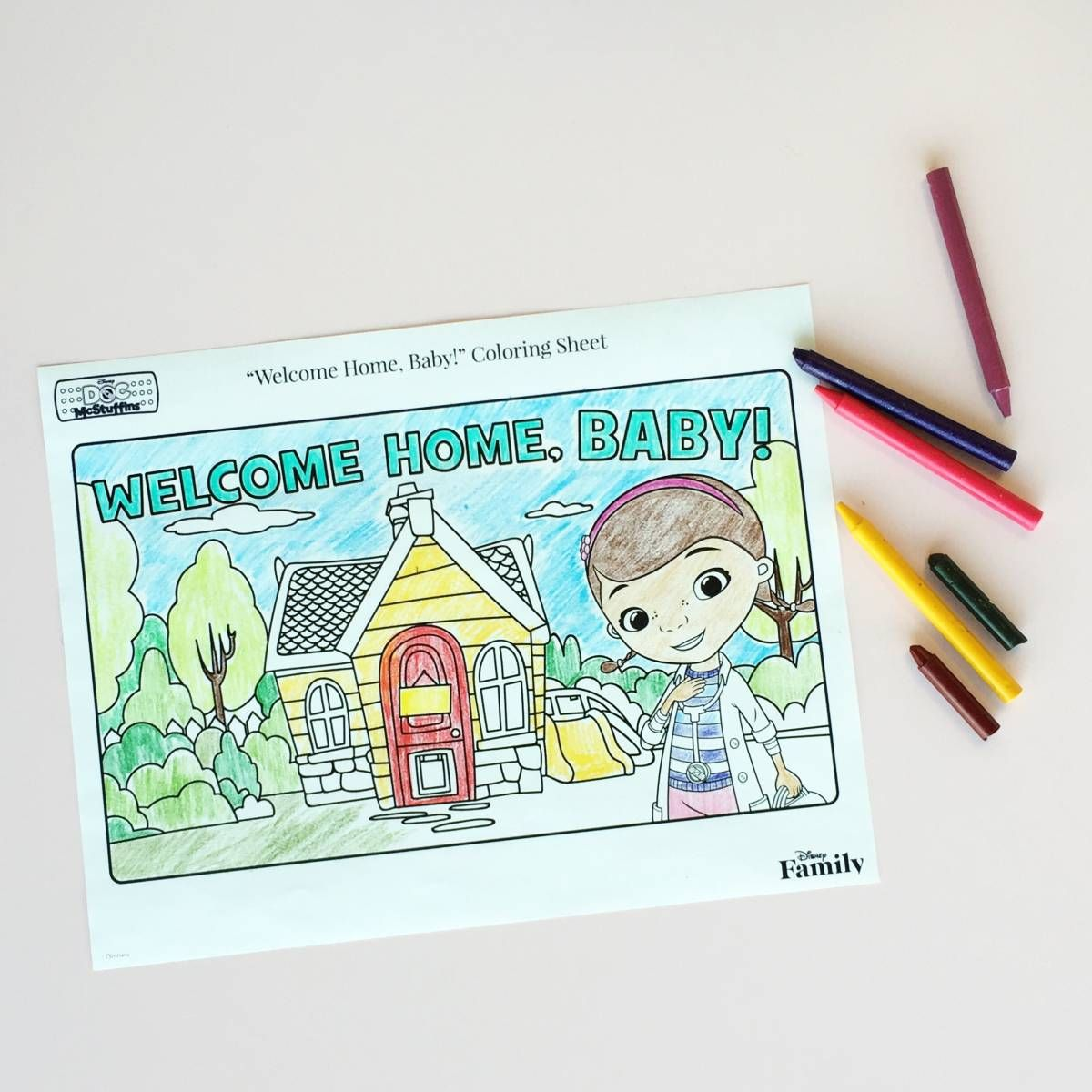 Baby Mcstuffins Coloring Page Disney Family Family Coloring Pages Free Disney Coloring Pages Baby Coloring Pages