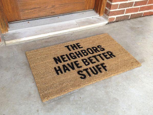 the neighbors have better stuff :)
