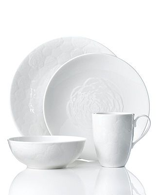 7c3c966644 Marchesa by Lenox Dinnerware, Marchesa Rose Collection - Fine China -  Dining & Entertaining - Macy's