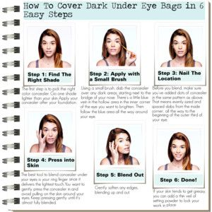 How To Cover Dark Under Eye Bags in 6 Easy Steps