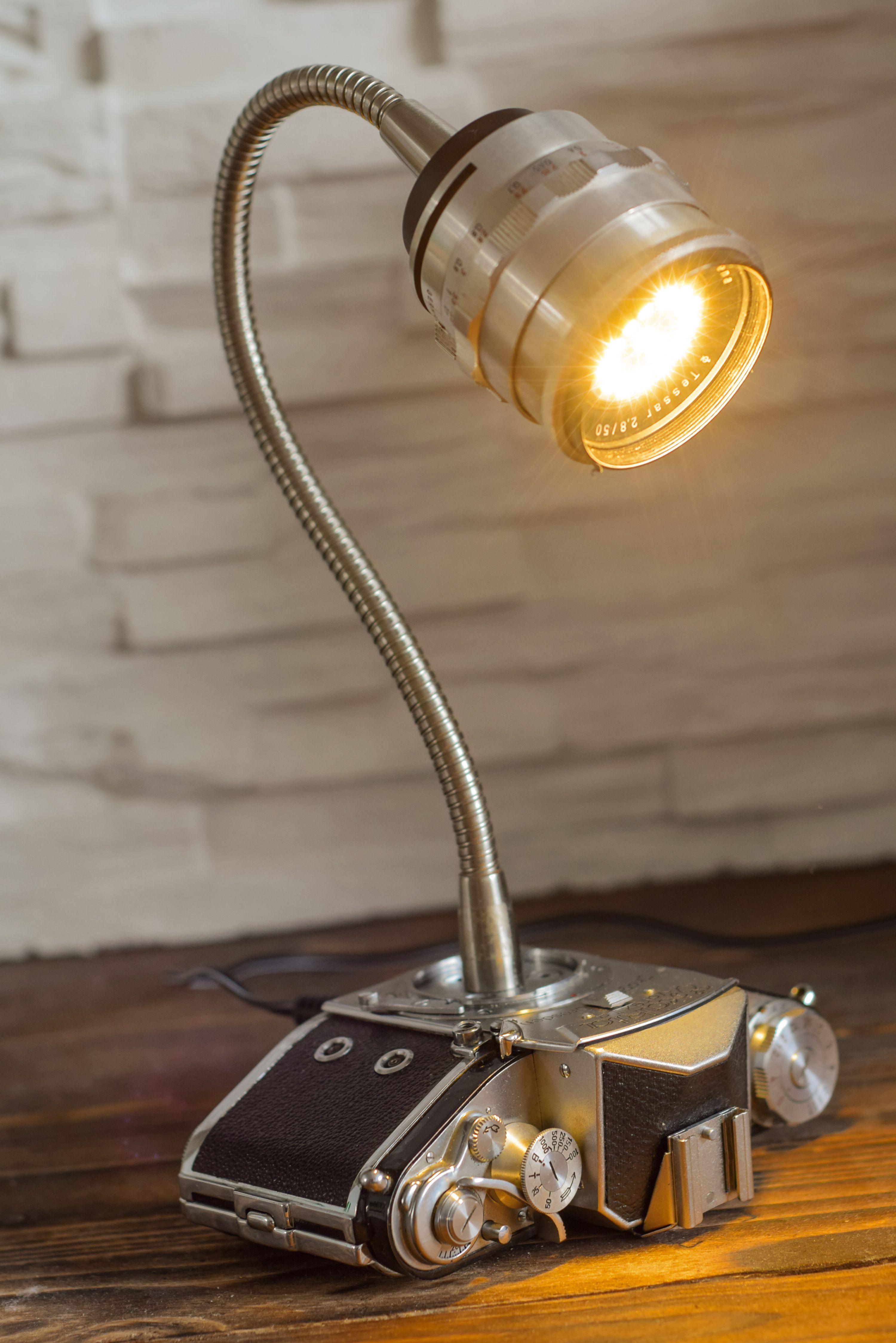 Exakta Varex 2a Umgebaut Zur Kameralampe Camera Lamp Lamp Cool Lamps
