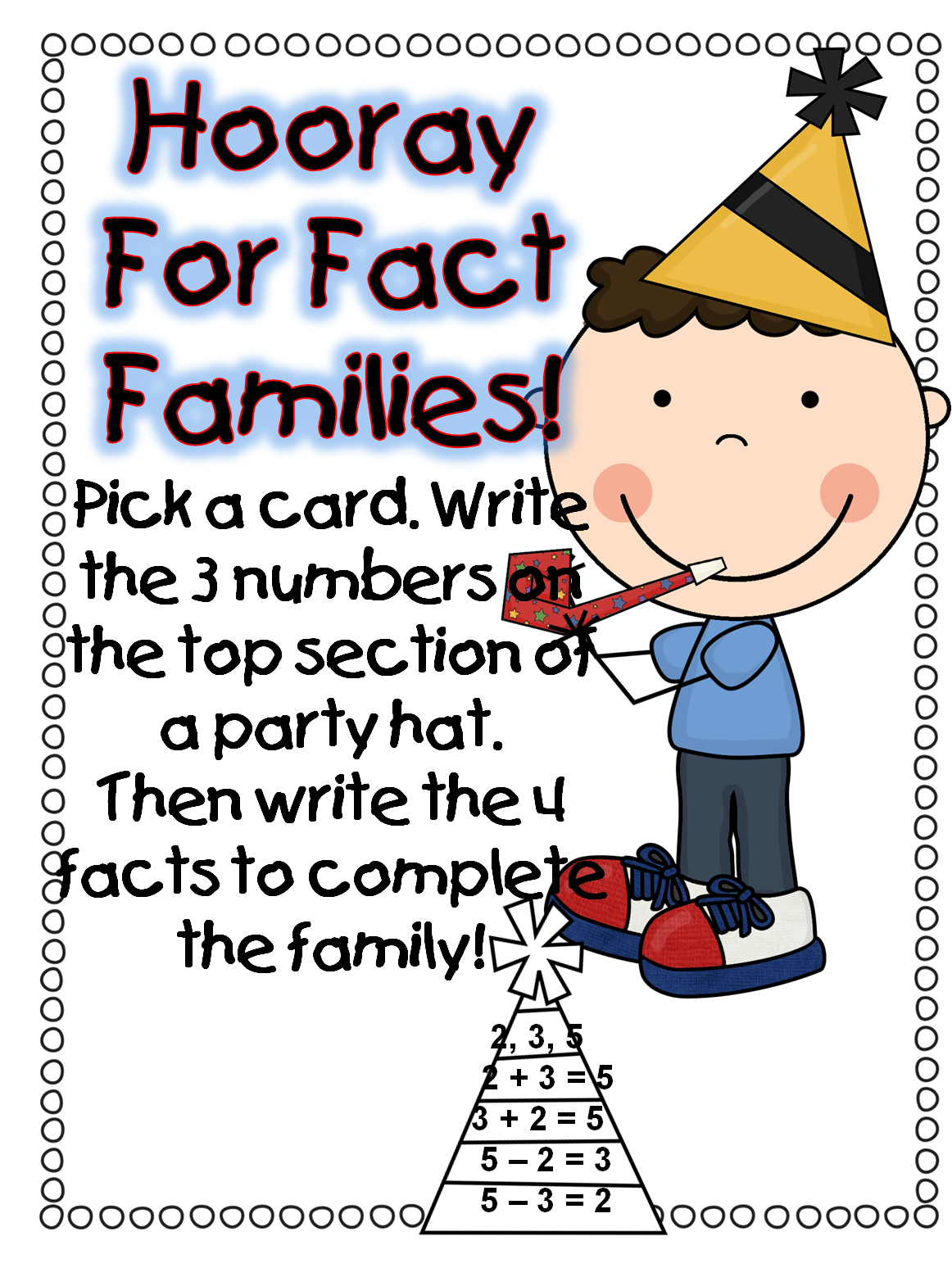 Fact Family First Grade Wow December