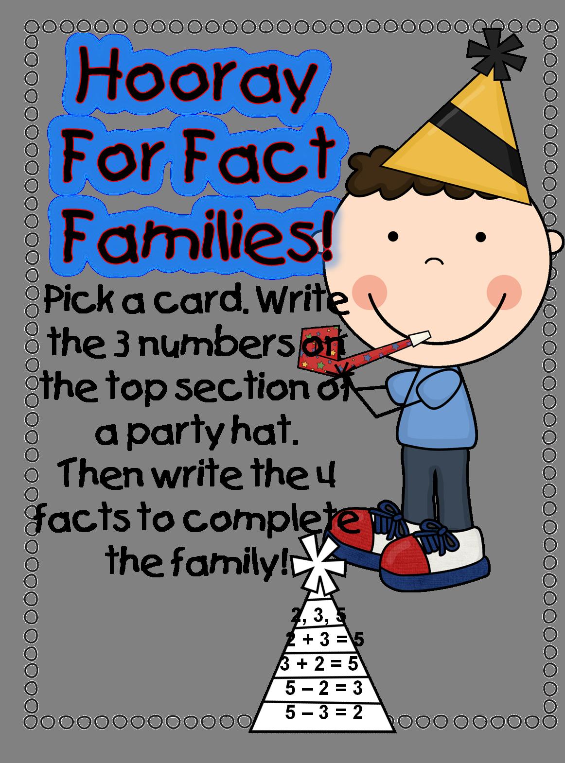 Fact Family First Grade Wow December