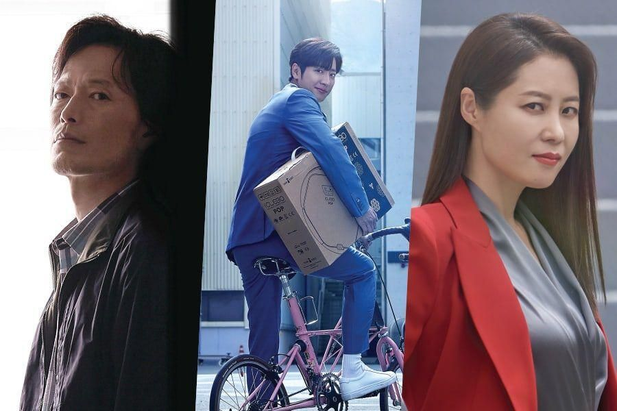 Jung Jae Young, Lee Sang Yeob, And Moon So Ri Are Competitive Office Workers In Posters For Upcoming MBC Drama