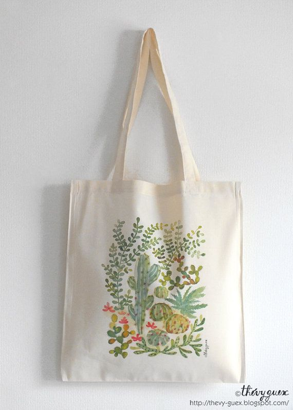 Succulents All-Over Tote