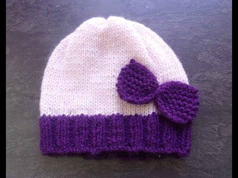 Bonnet 0 3 mois au tricot - YouTube   Puntos y puntos   Pinterest ... 41c778acf00