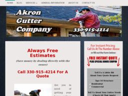 New listing in Gutter and Downspout Cleaning and Repair added to CMac.ws. Akron Gutter Company in Akron, OH - http://gutter-cleaning-services.cmac.ws/akron-gutter-company/978/