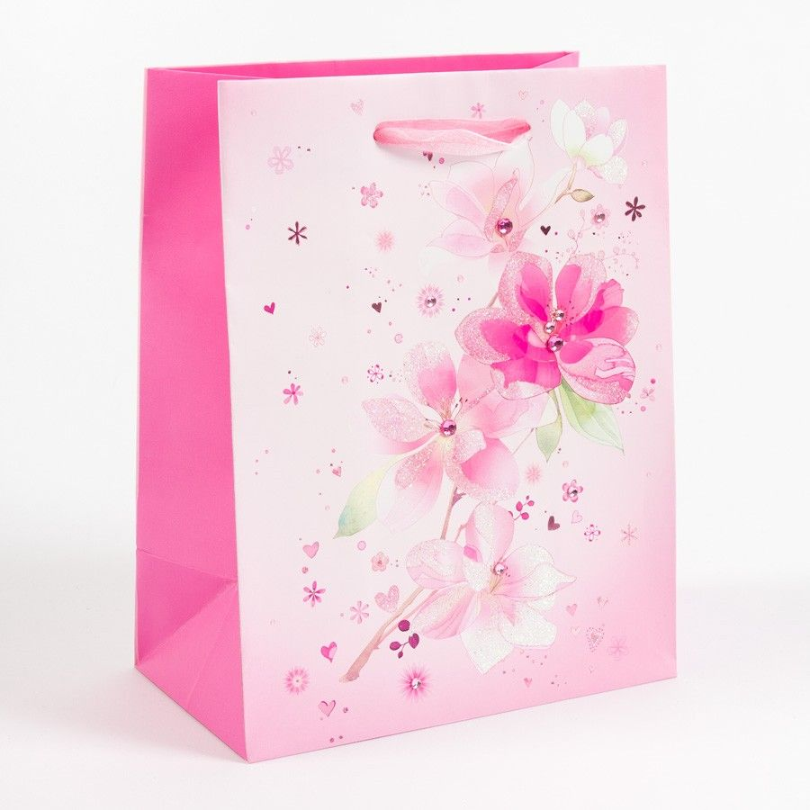 Flower Design Gift Paper Bags View Flower Design Gift Paper Bags