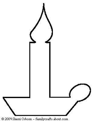Christmas Candles Drawing To Color Christmas Sewing Patterns