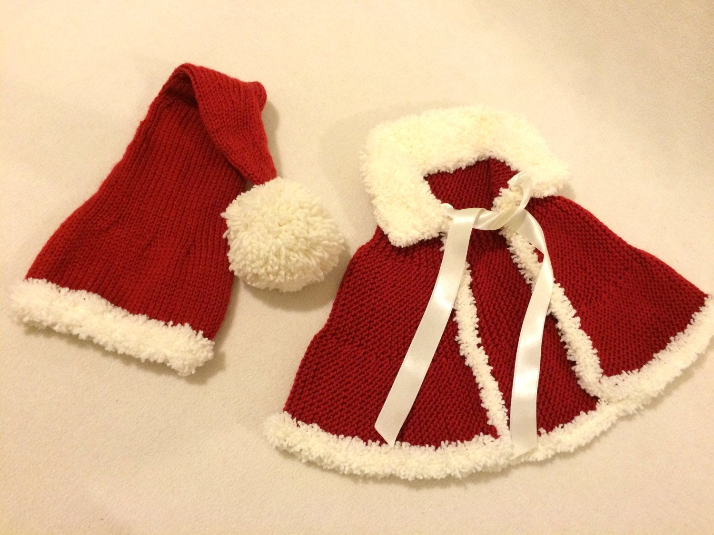 Santa hat,knitted baby Santa hat,Santa hat handmade,Santa hat,poncho ...