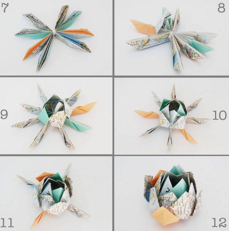 origami facile 100 animaux fleurs en papier et d co maison origami pinterest origami. Black Bedroom Furniture Sets. Home Design Ideas
