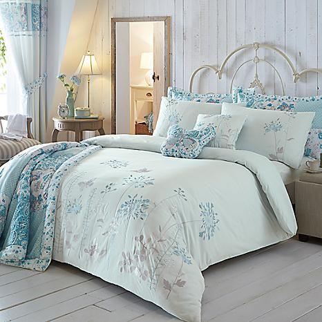 Botanical Border Duck Egg Duvet Set By Kaleidoscope Freemans Duck Egg Duvet Cover Bed Spreads Home