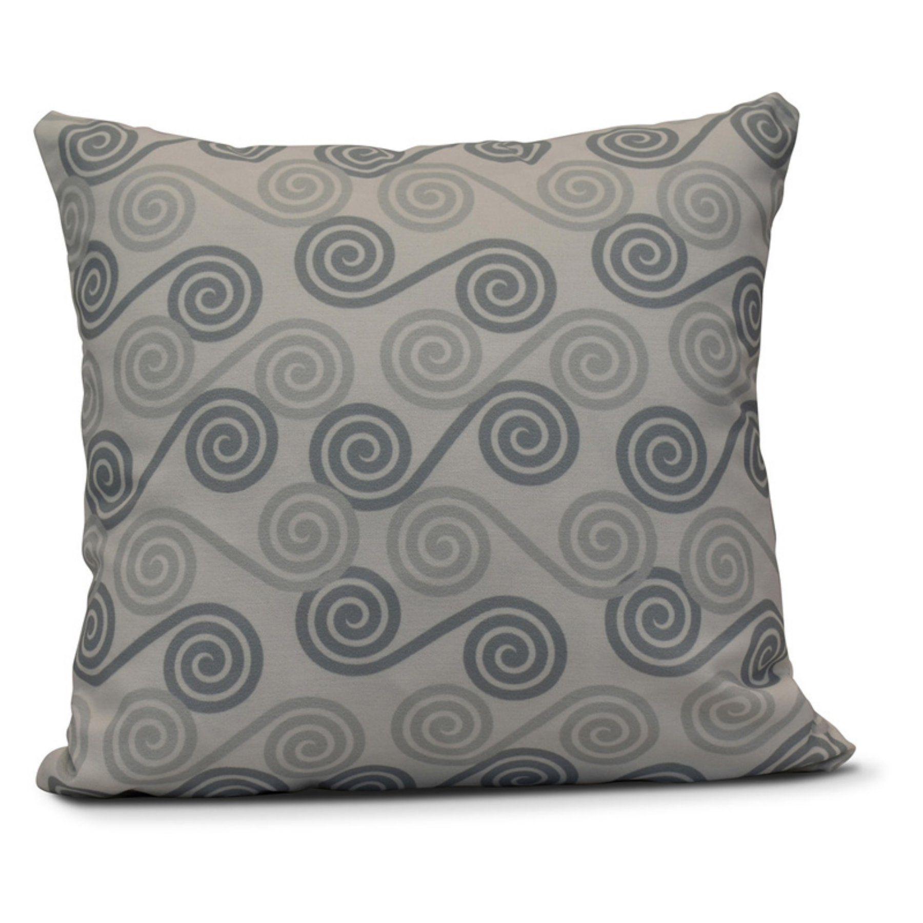 E by Design Rip Curl Outdoor Throw Pillow Outdoor throw