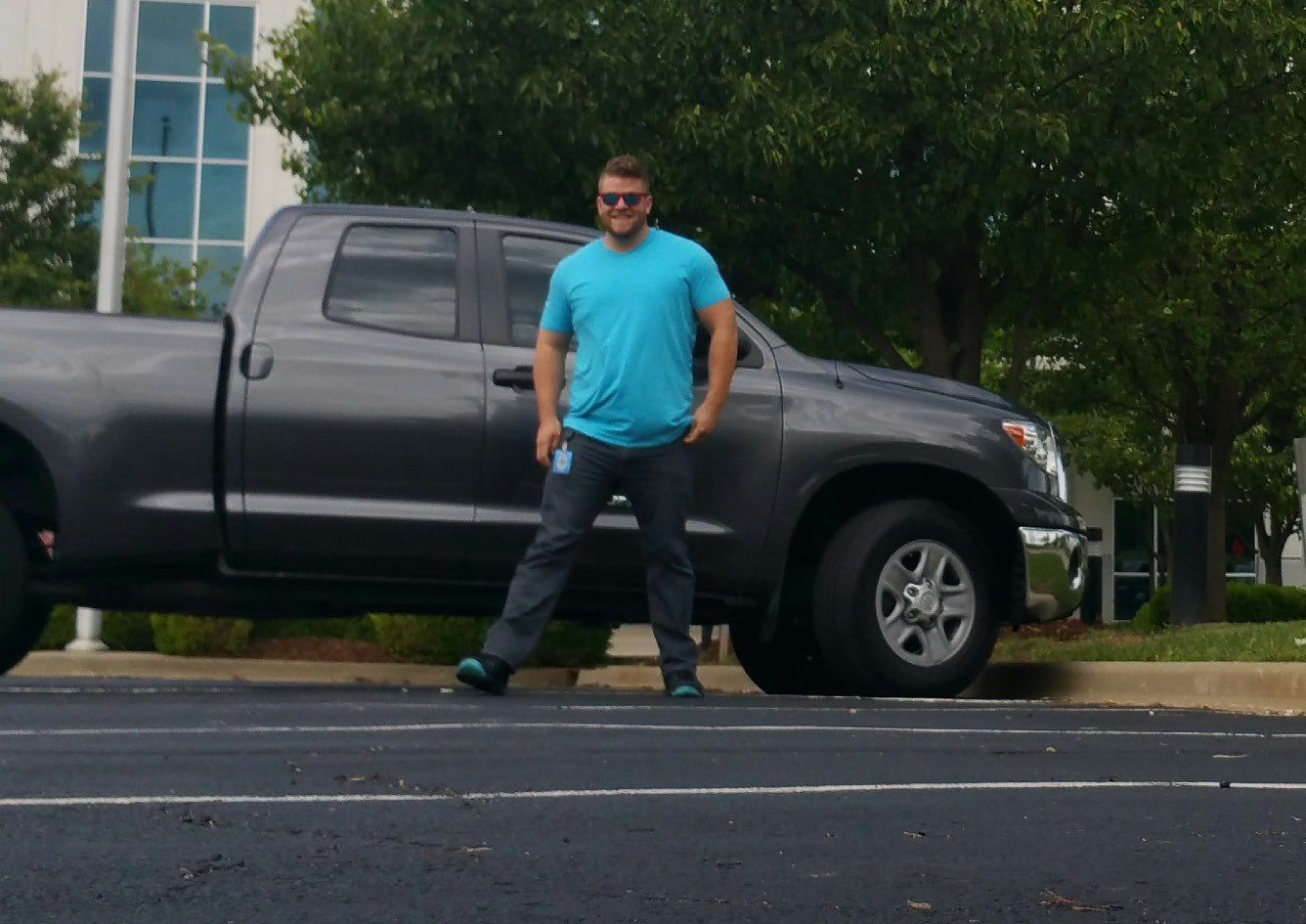 Nick Price and his Toyota Tundra purchased from Bob Hook