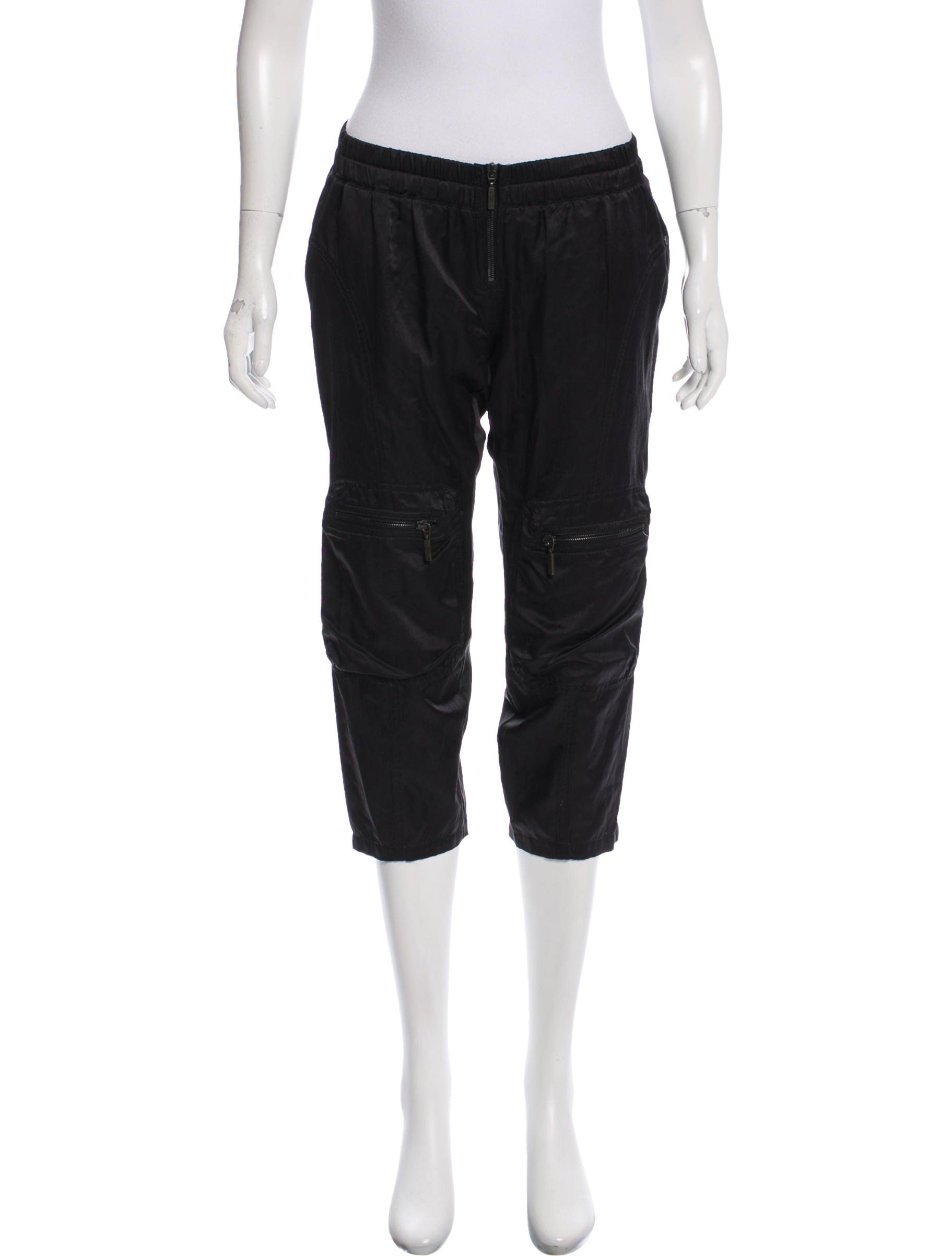 45a62aea8c43 Black Plein Sud cropped low-rise straight-leg pants with elastic ...