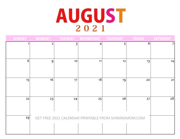 Lovely 2021 Printable Calendar PDF to Use for FREE! in ...